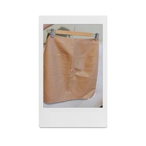 Missguided faux tan/nude skirt